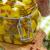 Маринованый сыр с овощами